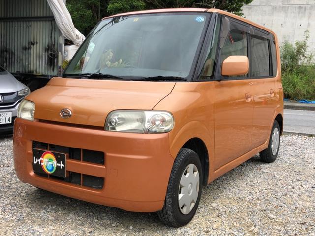 沖縄の中古車 ダイハツ タント 車両価格 16.8万円 リ済別 2007(平成19)年 10.6万km オレンジ