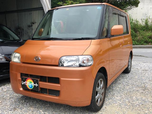 沖縄の中古車 ダイハツ タント 車両価格 14.8万円 リ済別 2005(平成17)年 11.0万km オレンジ