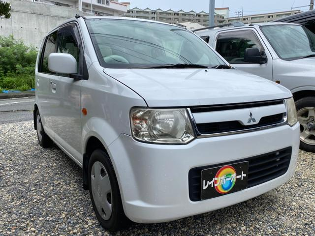 沖縄の中古車 三菱 eKワゴン 車両価格 14.8万円 リ済別 2007(平成19)年 9.7万km ホワイト
