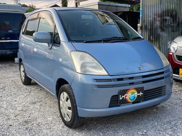 沖縄の中古車 スズキ MRワゴン 車両価格 9.8万円 リ済別 2004(平成16)年 7.3万km ライトブルー