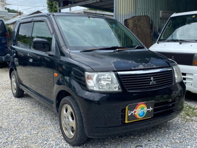 沖縄の中古車 三菱 eKワゴン 車両価格 5万円 リ済別 2005(平成17)年 18.0万km ブラック
