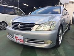 沖縄の中古車 トヨタ クラウン 車両価格 35万円 リ済込 平成16年 16.3万K シルバー