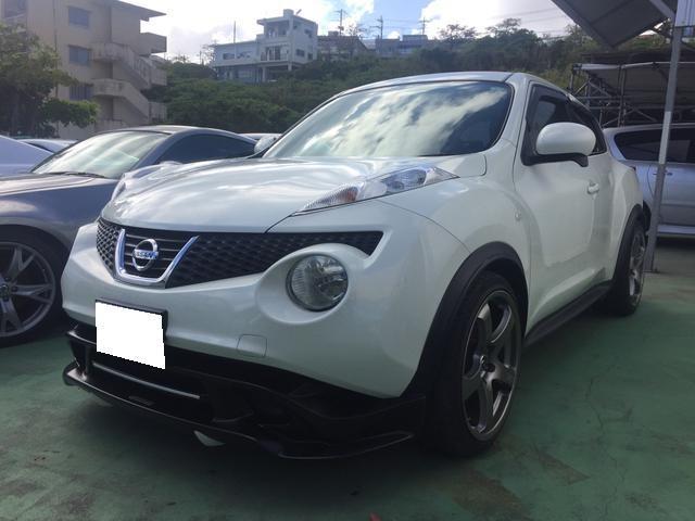 沖縄の中古車 日産 ジューク 車両価格 98万円 リ済込 平成23年 6.7万km パール