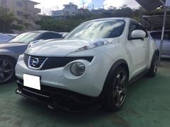 沖縄の中古車 日産 ジューク 車両価格 105万円 リ済込 平成23年 6.7万K パール