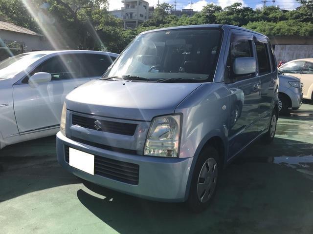 沖縄の中古車 スズキ ワゴンR 車両価格 14万円 リ済込 平成17年 17.2万km ライトブルー