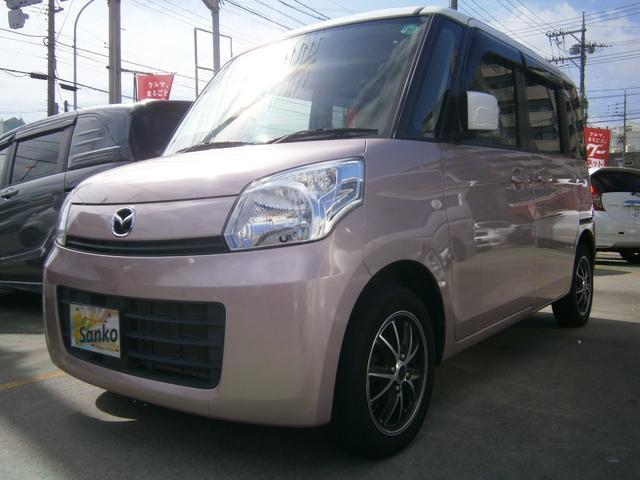 沖縄の中古車 マツダ フレアワゴン 車両価格 84万円 リ済込 平成25年 8.0万km ピンクM