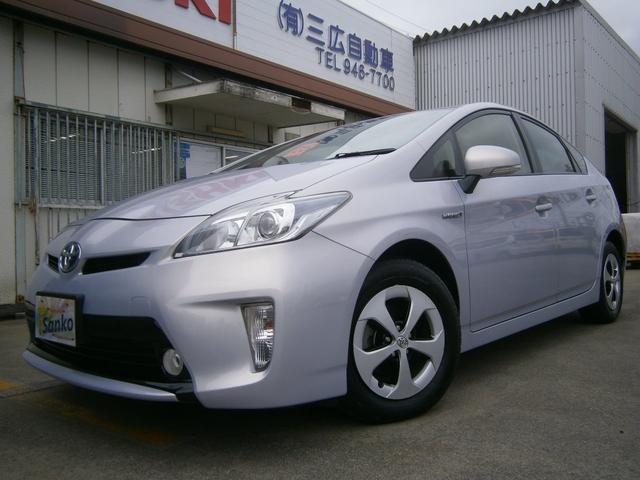 沖縄の中古車 トヨタ プリウス 車両価格 119万円 リ済込 平成25年 7.7万km ライトパープルM