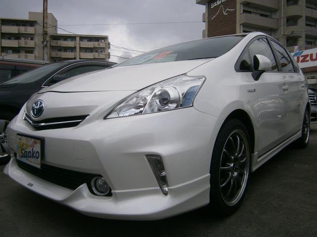 沖縄の中古車 トヨタ プリウスアルファ 車両価格 129万円 リ済込 平成25年 8.9万km パールホワイト