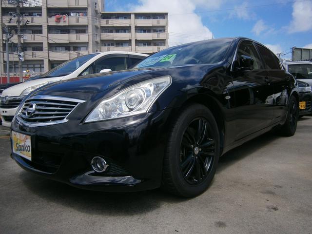 沖縄県の中古車ならスカイライン 250GT タイプP ブラックレザーシート HDDナビ