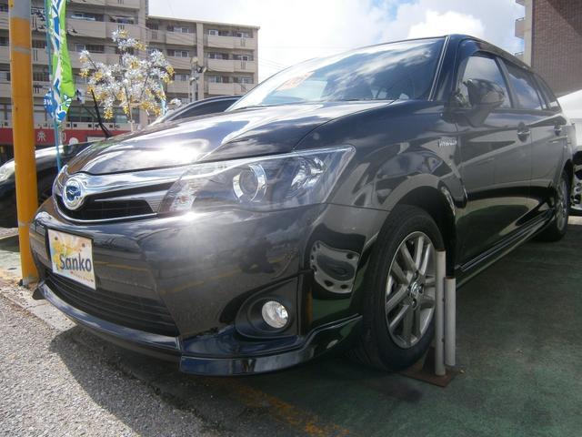 沖縄県の中古車ならカローラフィールダー ハイブリッドG エアロツアラー・ダブルバイビー SDナビ
