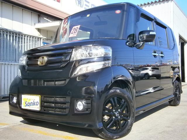 沖縄の中古車 ホンダ N-BOXカスタム 車両価格 119万円 リ済込 2016(平成28)年 6.3万km Dブラック