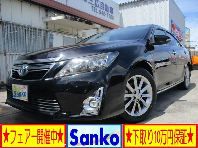 沖縄の中古車 トヨタ カムリ 車両価格 149万円 リ済込 2014(平成26)年 8.4万km DブラックM