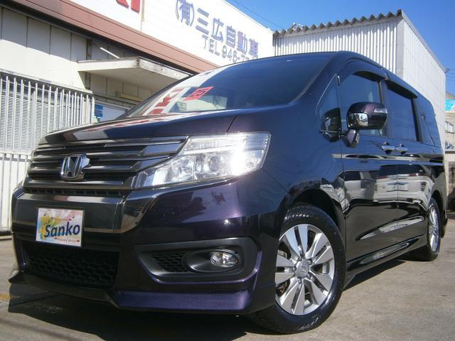 沖縄の中古車 ホンダ ステップワゴンスパーダ 車両価格 139万円 リ済込 2013(平成25)年 9.3万km ダークパープルM
