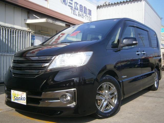 沖縄の中古車 日産 セレナ 車両価格 129万円 リ済込 2013(平成25)年 9.2万km Dブラック