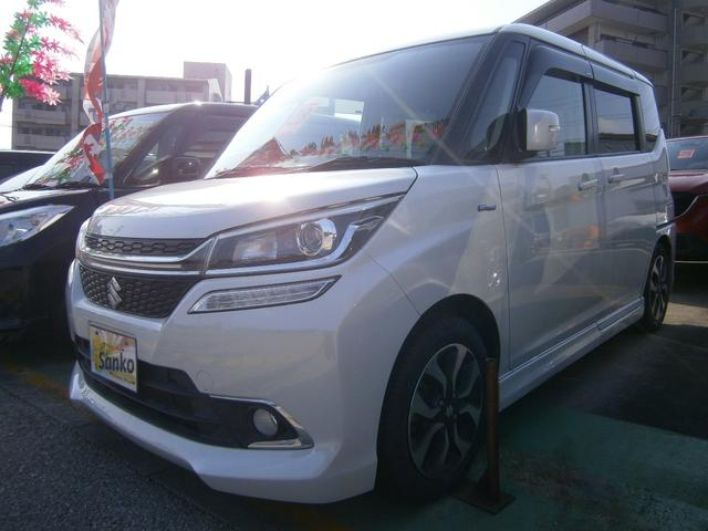 沖縄の中古車 スズキ ソリオバンディット 車両価格 119万円 リ済込 2016(平成28)年 8.6万km パールホワイト