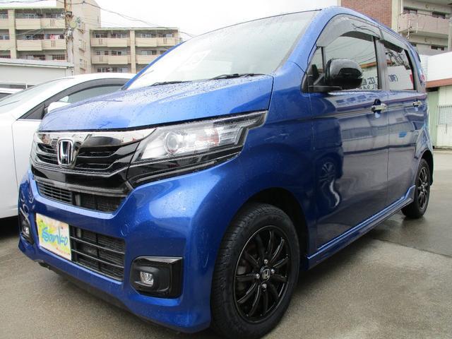 沖縄の中古車 ホンダ N-WGNカスタム 車両価格 103万円 リ済込 2017(平成29)年 4.0万km ダークブルーII