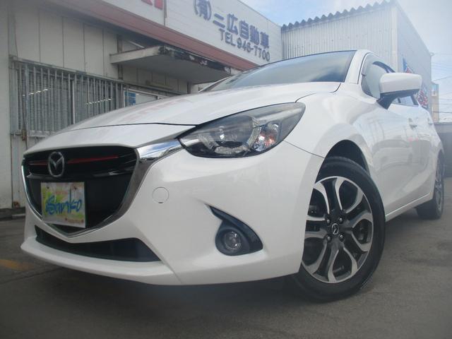 沖縄の中古車 マツダ デミオ 車両価格 129万円 リ済込 2016(平成28)年 5.6万km パールホワイト