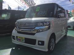 沖縄の中古車 ホンダ N BOXカスタム 車両価格 109万円 リ済込 平成24年 6.1万K パール