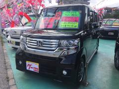 沖縄の中古車 ホンダ N BOXカスタム 車両価格 119万円 リ済込 平成25年 3.6万K ブラック