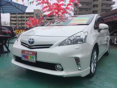 沖縄の中古車 トヨタ プリウスアルファ 車両価格 139万円 リ済込 平成25年 7.7万K パール