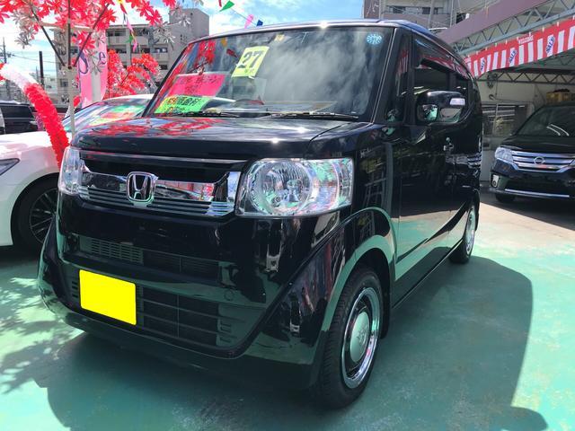 沖縄の中古車 ホンダ N-BOXスラッシュ 車両価格 126万円 リ済込 平成27年 6.7万km ブラック