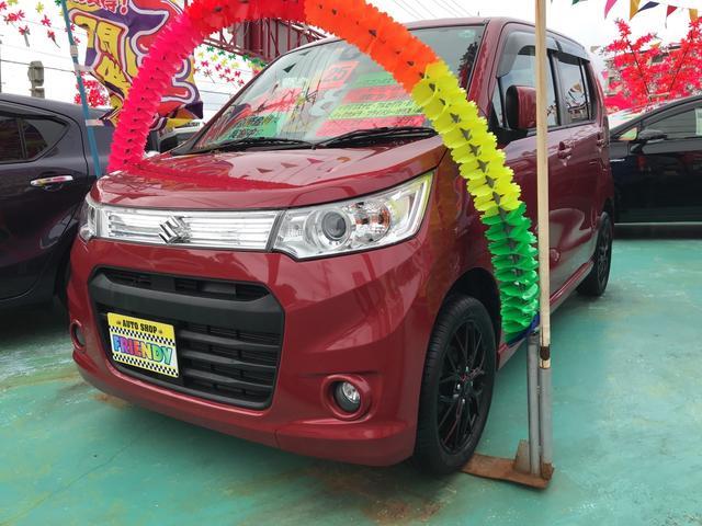 沖縄の中古車 スズキ ワゴンRスティングレー 車両価格 83万円 リ済込 平成25年 6.5万km レッド