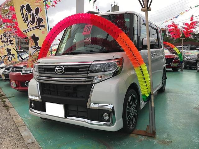 沖縄の中古車 ダイハツ タント 車両価格 149万円 リ済込 平成28年 1.7万km パール