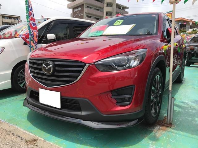 沖縄の中古車 マツダ CX-5 車両価格 189万円 リ済込 2015(平成27)年 8.8万km レッド