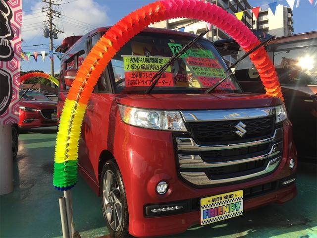 沖縄の中古車 スズキ スペーシアカスタムZ 車両価格 123万円 リ済込 2017(平成29)年 6.8万km レッド