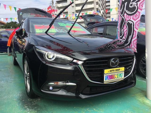 沖縄の中古車 マツダ アクセラスポーツ 車両価格 169万円 リ済込 2017(平成29)年 1.3万km ブラック