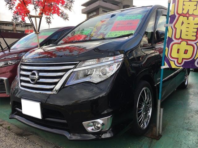 沖縄の中古車 日産 セレナ 車両価格 149万円 リ済込 2014(平成26)年 8.2万km Dブラック