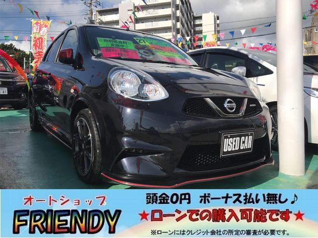 沖縄の中古車 日産 マーチ 車両価格 89万円 リ済込 2015(平成27)年 9.1万km ブラック