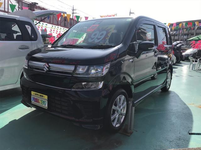 沖縄の中古車 スズキ ワゴンR 車両価格 99万円 リ済込 2018(平成30)年 7.5万km ブラック