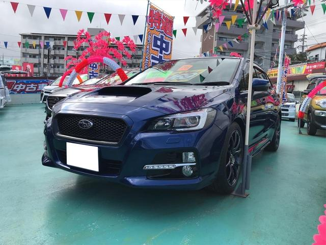 沖縄の中古車 スバル レヴォーグ 車両価格 159万円 リ済込 2014(平成26)年 9.7万km ブルー