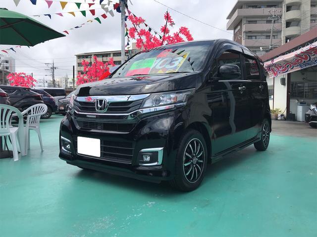 沖縄の中古車 ホンダ N-WGNカスタム 車両価格 103万円 リ済込 2018(平成30)年 5.2万km ブラック