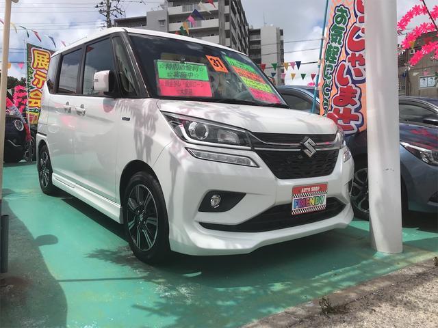沖縄県の中古車ならソリオバンディット ハイブリッドMV ケンウッドナビ フルセグTV Bluetooth デュアルブレーキサポート 片側パワースライドドア インテリキー プライバシーガラス