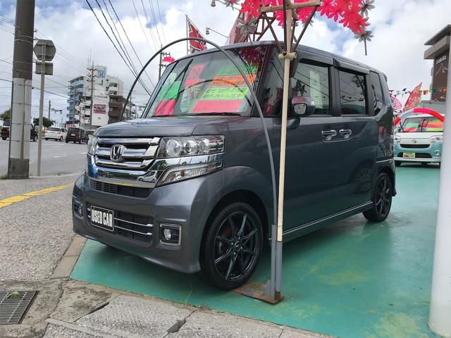 沖縄の中古車 ホンダ N-BOXカスタム 車両価格 119万円 リ済込 2016(平成28)年 7.0万km グレー