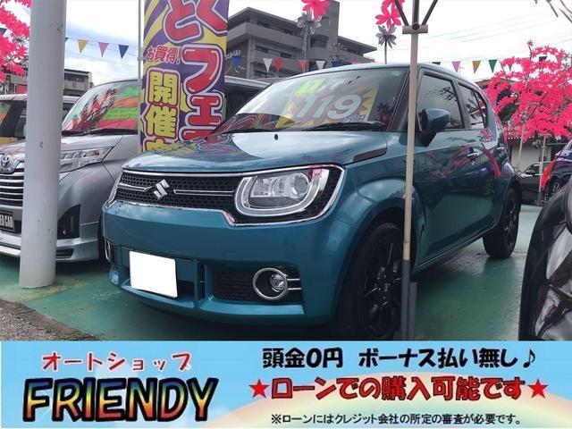 沖縄の中古車 スズキ イグニス 車両価格 119万円 リ済込 2019(令和1)年 5.3万km ブルー