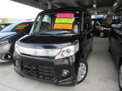 沖縄の中古車 スズキ スペーシアカスタム 車両価格 111万円 リ済込 平成25年 7.5万K ブラック