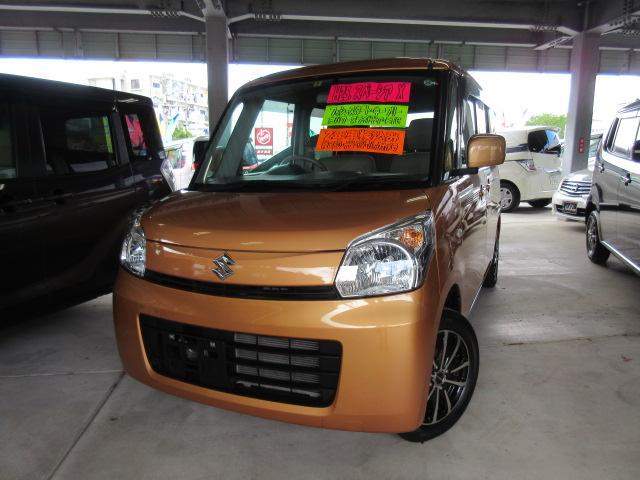 沖縄の中古車 スズキ スペーシア 車両価格 94万円 リ済込 2013(平成25)年 6.6万km オレンジM