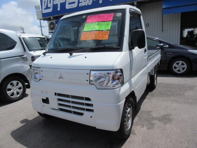 沖縄の中古車 三菱 ミニキャブトラック 車両価格 65万円 リ済込 平成24年 8.4万km ホワイト