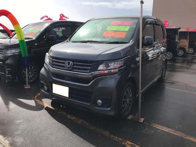 沖縄の中古車 ホンダ N-WGNカスタム 車両価格 106万円 リ済込 平成27年 6.2万km グレー