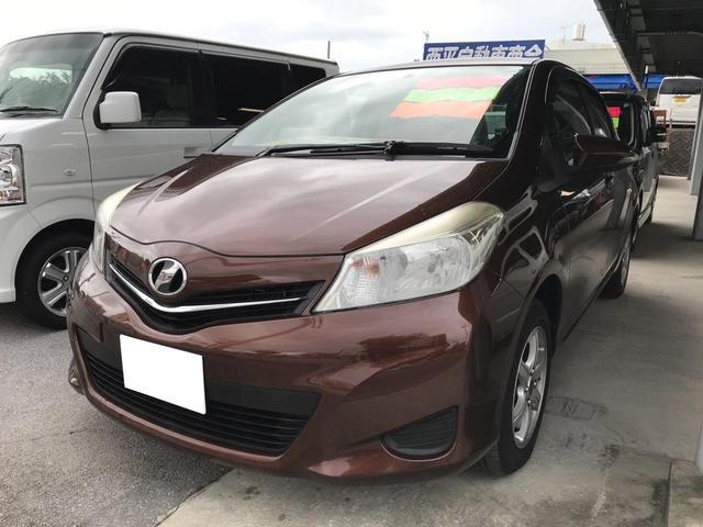 沖縄の中古車 トヨタ ヴィッツ 車両価格 70万円 リ済込 2011(平成23)年 7.5万km ブラウン
