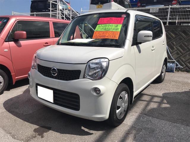 沖縄の中古車 日産 モコ 車両価格 66万円 リ済込 2012(平成24)年 6.1万km スノーパールホワイト