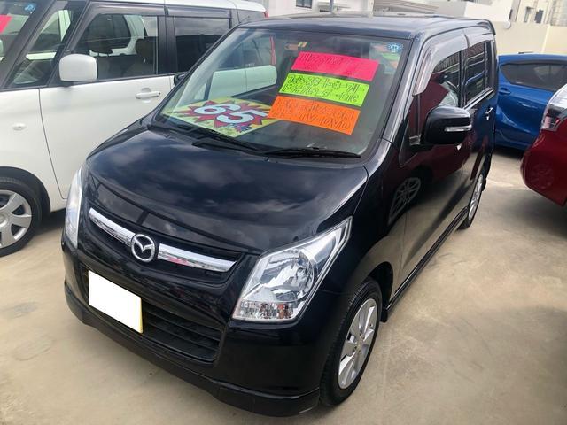 沖縄の中古車 マツダ AZワゴン 車両価格 60万円 リ済込 2011(平成23)年 6.6万km ブラック