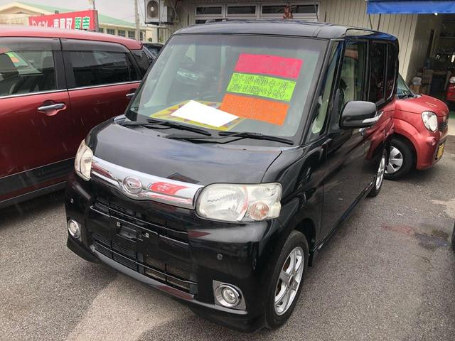 沖縄の中古車 ダイハツ タント 車両価格 72万円 リ済込 2012(平成24)年 7.9万km ブラック