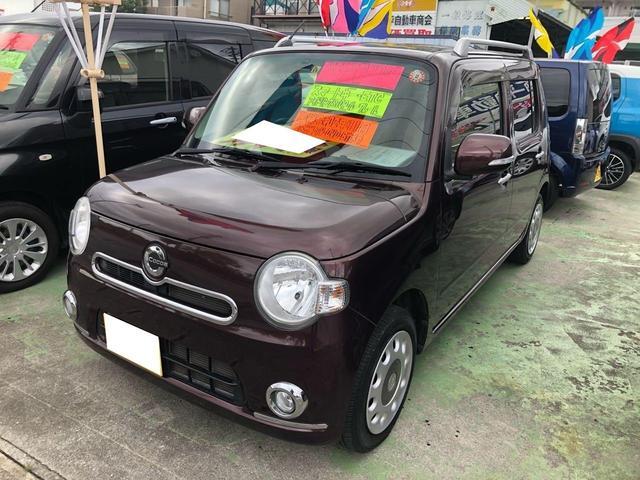 沖縄の中古車 ダイハツ ミラココア 車両価格 76万円 リ済込 2013(平成25)年 5.4万km ブラウン