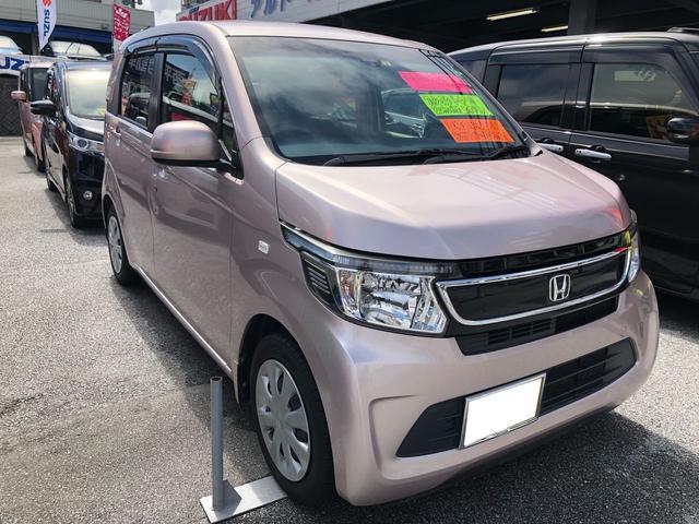 沖縄の中古車 ホンダ N-WGN 車両価格 76万円 リ済込 2014(平成26)年 6.8万km ピンク