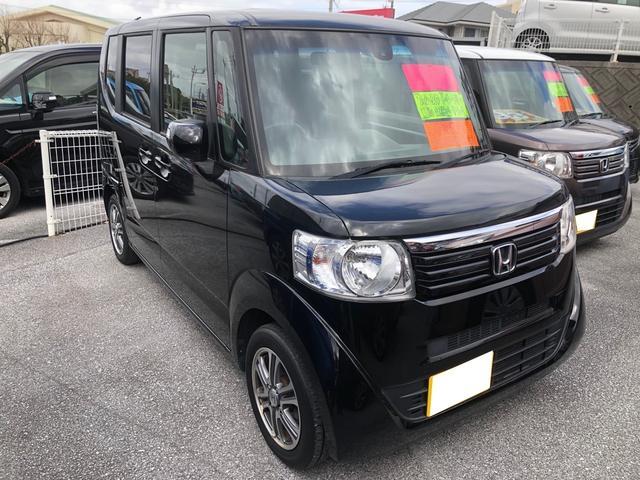 沖縄の中古車 ホンダ N-BOX 車両価格 102万円 リ済込 2015(平成27)年 6.2万km ブラック