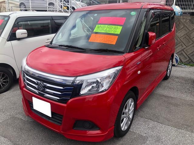 沖縄の中古車 スズキ ソリオ 車両価格 111万円 リ済込 2015(平成27)年 6.3万km レッド